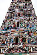 Malaysia, Kuala Lumpur. Chinatown. Sri Mahamariamman Hindu Temple.