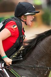 Karin Donckers, (BEL), Fletcha van t Verahof - Eventing Cross Country test- Alltech FEI World Equestrian Games™ 2014 - Normandy, France.<br /> © Hippo Foto Team - Dirk Caremans<br /> 30/08/14