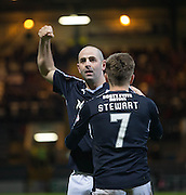Dundee&rsquo;s Gary Harkins celebrates after his goal had sealed a 3-1 win for the Dark Blues  - Dundee v Falkirk, William Hill Scottish Cup Fourth Round at Dens Park <br /> <br />  - &copy; David Young - www.davidyoungphoto.co.uk - email: davidyoungphoto@gmail.com