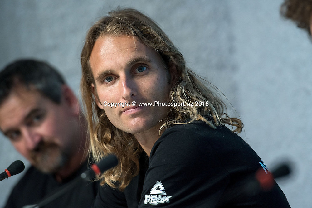 Hamish Carson 1500m speaks to the media during a Athletics team press conference in the Press Media Centre at the 2016 Rio Olympics on Sunday the 14th of August 2016. © Copyright Photo by Marty Melville / www.Photosport.nz