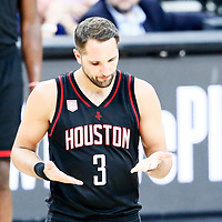 01 May 2017: Houston Rockets forward Ryan Anderson (3) is seen during the Houston Rockets 126-99 victory over the San Antonio Spurs, in game 1 of the Western Conference Semi Finals, at the AT&T Center, San Antonio, Texas, USA.