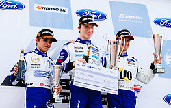 Lando Norris (L) 3rd place finish | #31 Carlin | MSA Formula Championship | Race 3 - Mandatory byline: Rogan Thomson/JMP - 07966 386802 - 28/06/2015 - SPORT - MOTORSPORT - North Yorkshire, England - Croft Circuit - BTCC Meeting Day 2.
