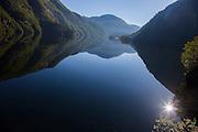 Fjord near Stanhelle, Norway, an hour NE of Bergen.