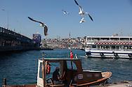 Turkey. Istambul. Karakoy area. quiet pklace on the golden horn