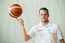 Luka Zabot of Slovenian Deaf Basketball team at media day, on June 13, 2016 in GIB Centre, Ljubljana, Slovenia. Photo by Vid Ponikvar / Sportida