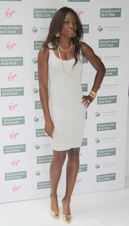 Venus Williams World Tennis Association Pre-Wimbledon Party held at the Roof Gardens, Kensington, London, UK, 17 June 2010. For piQtured Sales contact: Ian@piqtured.com Tel: +44(0)791 626 2580 (Picture by Richard Goldschmidt/Piqtured)