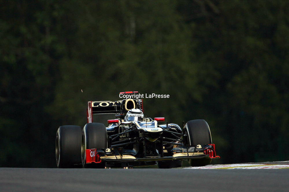 &copy; Photo4 / LaPresse<br /> 01/9/2012 Spa-Francorchamps, Belgium<br /> Belgian Grand Prix, Spa-Francorchamps 30 August - 02 September 2012<br /> In the pic: Kimi Raikkonen (FIN), Lotus F1 Team E20