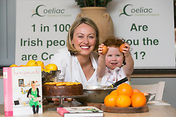 Repro Free: Blackrock Dublin: <br /> Serena Conway (3) is pictured helping well known chef Clodagh McKenna in lending her support to Coeliac Awareness Week, a public awareness campaign taking place from 12 to 19 May to promote better awareness and understanding of coeliac disease and those affected by it. <br /> Coeliac Awareness Week, which is being run by the Coeliac Society of Ireland, will focus heavily on diagnosis of the disease, particularly in children.<br /> Coeliac disease affects 1 in every 100 people in Ireland and it is estimated that around 45,000 Irish people could be coeliac, many of which are, as yet, undiagnosed. The disease causes some adults and children to react to a protein called gluten, which is found in wheat, barley and rye. <br /> As part of Coeliac Awareness Week, Clodagh will be hosting a Gluten-Free cooking master-class at her restaurant &lsquo;Clodagh&rsquo;s Kitchen&rsquo; in Arnotts where she will be preparing her favourite coeliac friendly dishes as well as offering advice on how to cook tasty meals for family members, friends or children who are coeliac. Picture Andres Poveda<br /> Full details of all events taking place during Coeliac Awareness Week, as well as any information you may need in relation to gluten free living, including recipes and tips, can be found at www.coeliac.ie. Picture Andres Poveda<br /> <br /> <br /> For further information or to arrange an interview, please contact:<br /> Breda Brown / Niall McHugh<br /> Unique Media<br /> Tel: (01) 522 5200 or (087) 2487120<br /> Email:  bredabrown@uniquemedia.ie/ niallmchugh@uniquemedia.ie