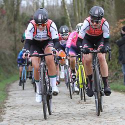 01-03-2020: Wielrennen: Hageland vrouwen: Tielt-Winge: Amber van der Hulst: Romy Kasper