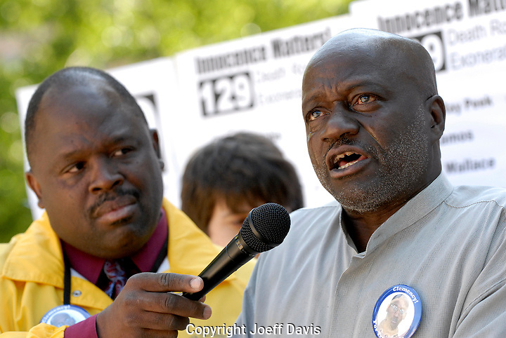 Former California death row inmate Ernest (Shujaa) Graham breaks down in tears while speaking at a rally for death row inmate Troy Davis at the Georgia state capitol in Atlanta on May 17, 2008. <br /> <br /> Graham spent 5 years on death row for a murder he did not commit. He was exonerated in 1981. <br /> <br /> Troy Davis has been on death row since 1989 for the murder of a Savannah, Georgia police officer. Although there is no physical evidence linking Davis to the murder and seven of the nine witnesses who originally identified him as the killer have recanted their testimony Davis remains on death row.