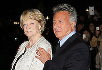 LONDON - OCTOBER 15: Dame Maggie Smith; Dustin Hoffman attended the screening of 'Quartet' at the Odeon, Leicester Square, London, UK. October 15, 2012. (Photo by Richard Goldschmidt)