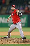 March 26, 2018 - Arlington, TX, U.S. - ARLINGTON, TX - MARCH 26: Cincinnati Reds relief pitcher Kevin Quackenbush (61) comes on to pitch during the exhibition game between the Cincinnati Reds and Texas Rangers on March 26, 2018 at Globe Life Park in Arlington, TX. (Photo by Andrew Dieb/Icon Sportswire) (Credit Image: © Andrew Dieb/Icon SMI via ZUMA Press)