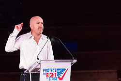 Westminster Central Hall, London, November 2nd 2015. Representing actors' and performers' union Equity, comedian Andy Parsons addresses the packed Westminster Central Hall.