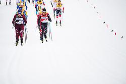 January 6, 2018 - Val Di Fiemme, ITALY - 180106 Sergey Ustigov of Russia and Dario Cologna of Switzerland compete in men's 15km mass start classic technique during Tour de Ski on January 6, 2018 in Val di Fiemme..Photo: Jon Olav Nesvold / BILDBYRN / kod JE / 160123 (Credit Image: © Jon Olav Nesvold/Bildbyran via ZUMA Wire)