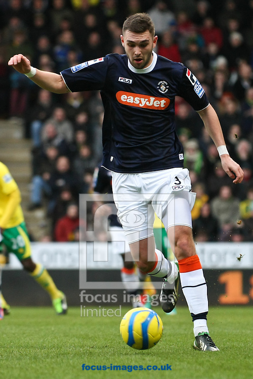 Picture by David Horn/Focus Images Ltd +44 7545 970036.26/01/2013.Greg Taylor of Luton Town during the The FA Cup match at Carrow Road, Norwich.