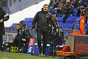 Forest Green Rovers head coach, Mark Cooper during the EFL Sky Bet League 2 match between Oldham Athletic and Forest Green Rovers at Boundary Park, Oldham, England on 15 February 2020.