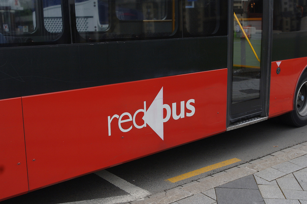 Christchurch Red Bus, Cathedral Square, Christchurch, New Zealand, Tuesday October 17, 2006. Credit:SNPA / Ross Setford