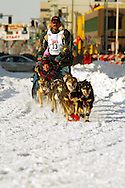 3/3/2007:  Anchorage Alaska -  Veteran Tim Osmar of Ninilchik, AK during the Ceremonial Start of the 35th Iditarod Sled Dog Race