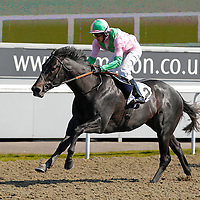 Bluegrass Blues and Chris Catlin winning the 2.30 race