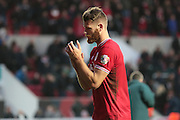Bristol City defender Nathan Baker during the Sky Bet Championship match between Bristol City and Charlton Athletic at Ashton Gate, Bristol, England on 26 December 2015. Photo by Jemma Phillips.