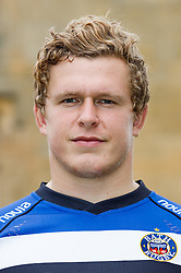 Tom Woolstencroft of Bath Rugby poses for a head shot at the club's training ground - Photo mandatory by-line: Rogan Thomson/JMP - 28/08/2014 - SPORT - RUGBY UNION - Farleigh House, Bath - Bath Rugby Media Day 2014/15 - Aviva Premiership.