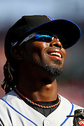 17 April 2010:New York Mets shortstop Jose Reyes (7) smiles while running back to the dugout in Saturday's game against the St. Louis Cardinals at Busch Stadium in St. Louis, Missouri. The Game would go 20 innings, with the Mets winning 2-1.