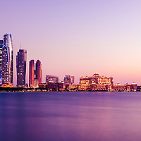 A spectacular view from the famous Emirates Palace Lagoon