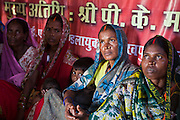 Women from the Musahar community meet monthly to discuss local issues. This project is part of the MSS program on Dalit rights. 'Inclusive development of Musahar community', targeting Musahar villages in the Maharjganj district.