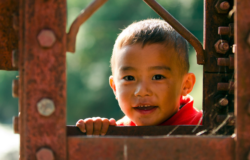 A Bhutanese boy in central Bhutan.