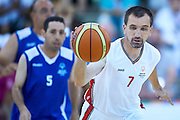 Janusz Szkurlat SO Poland athlete in action while basketball match SO Poland v SO Israel during second day of the Special Olympics World Games Los Angeles 2015 on July 26, 2015 on Galen Center at University of Southern California in Los Angeles, USA.<br /> USA, Los Angeles, July 26, 2015<br /> <br /> Picture also available in RAW (NEF) or TIFF format on special request.<br /> <br /> For editorial use only. Any commercial or promotional use requires permission.<br /> <br /> Adam Nurkiewicz declares that he has no rights to the image of people at the photographs of his authorship.<br /> <br /> Mandatory credit:<br /> Photo by &copy; Adam Nurkiewicz / Mediasport