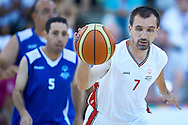 Janusz Szkurlat SO Poland athlete in action while basketball match SO Poland v SO Israel during second day of the Special Olympics World Games Los Angeles 2015 on July 26, 2015 on Galen Center at University of Southern California in Los Angeles, USA.<br /> USA, Los Angeles, July 26, 2015<br /> <br /> Picture also available in RAW (NEF) or TIFF format on special request.<br /> <br /> For editorial use only. Any commercial or promotional use requires permission.<br /> <br /> Adam Nurkiewicz declares that he has no rights to the image of people at the photographs of his authorship.<br /> <br /> Mandatory credit:<br /> Photo by © Adam Nurkiewicz / Mediasport