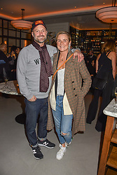 21 November 2019 - Hughie Robertson and Naomi Robertson at the launch of Sam's Riverside Restaurant, 1 Crisp Walk, Hammersmith hosted by owner Sam Harrison, Edward Taylor and Jack Brooksbank.<br /> <br /> Photo by Dominic O'Neill/Desmond O'Neill Features Ltd.  +44(0)1306 731608  www.donfeatures.com