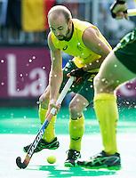 ANTWERP -   Matthew Swann   of Australia during the final Australia vs Belgium (1-0). WSP COPYRIGHT KOEN SUYK