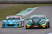 Jake Giddings (GBR) / Kieran Griffin (GBR)  #47 JW Bird Motorsport  Aston Martin V8 Vantage GT4  Aston Martin 4.7L V8 British GT Championship at Rockingham, Corby, Northamptonshire, United Kingdom. April 30 2016. World Copyright Peter Taylor/PSP.