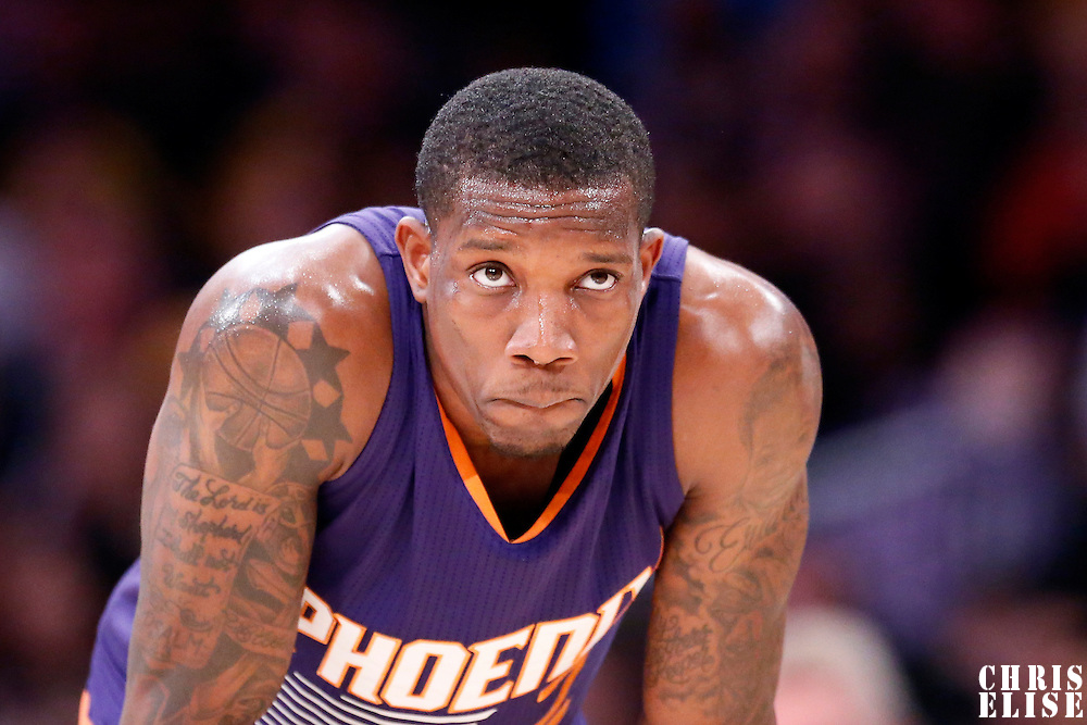 04 November 2014: Phoenix Suns guard Eric Bledsoe (2) rests during the Phoenix Suns 112-106 victory over the Los Angeles Lakers, at the Staples Center, Los Angeles, California, USA.