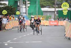 DURST Hans-Peter, T2, GER, Cycling, Road Race, STONE David, GBR, AYALA AYALA Nestor, COL à Rio 2016 Paralympic Games, Brazil