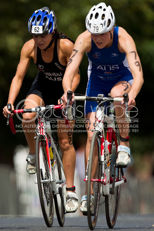 Tamsyn Moana-Veale(AUS).Junior Elite Women.Australian Junior Sprint Distance Championships.2011 Geelong Multi-Sport Festival.Eastern Beach, Geelong, Victoria, Australia.20/02/11.Photo By Lucas Wroe