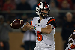 PALO ALTO, CA - NOVEMBER 10:  Quarterback Jake Luton #6 of the Oregon State Beavers passes against the Stanford Cardinal during the first quarter at Stanford Stadium on November 10, 2018 in Palo Alto, California. (Photo by Jason O. Watson/Getty Images) *** Local Caption *** Jake Luton