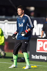July 20, 2011; Santa Clara, CA, USA;  Vancouver Whitecaps goalkeeper Joe Cannon (1) warms up before the game against the San Jose Earthquakes at Buck Shaw Stadium. San Jose tied Vancouver 2-2.