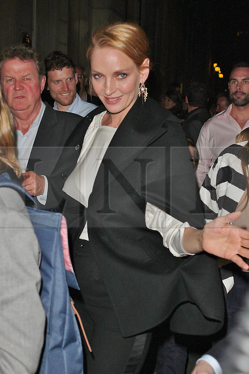 © London News Pictures. 25/06/2013. London, UK.  Uma Thurman at the Charlie and the Chocolate Factory - Opening Night After Party . Photo credit: Brett D. Cove/LNP