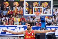 Spain Jaime Fernandez during FIBA European Qualifiers to World Cup 2019 between Spain and Slovenia at Coliseum Burgos in Madrid, Spain. November 26, 2017. (ALTERPHOTOS/Borja B.Hojas)