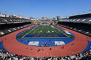 Apr 28, 2018; Philadelphia, PA, USA; General overall of the 124th Penn Relays at Franklin Field.