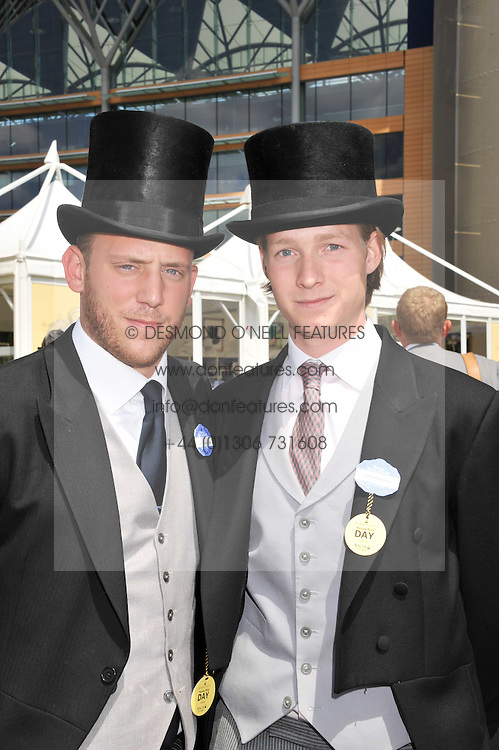 Left to right, CARLO CARELLO and SAM SANGSTER at day 1 of the 2011 Royal Ascot Racing festival at Ascot Racecourse, Ascot, Berkshire on 14th June 2011.