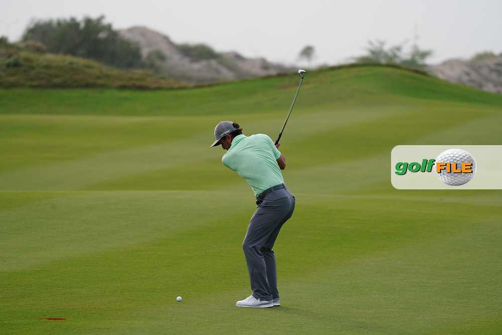 Fabrizio Zanotti (PAR) on the 7th during Round 1 of the Oman Open 2020 at the Al Mouj Golf Club, Muscat, Oman . 27/02/2020<br /> Picture: Golffile | Thos Caffrey<br /> <br /> <br /> All photo usage must carry mandatory copyright credit (© Golffile | Thos Caffrey)