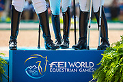 Prijsuitreiking Individuele Grade IV<br /> FEI World Equestrian Games Tryon 2018<br /> © DigiShots