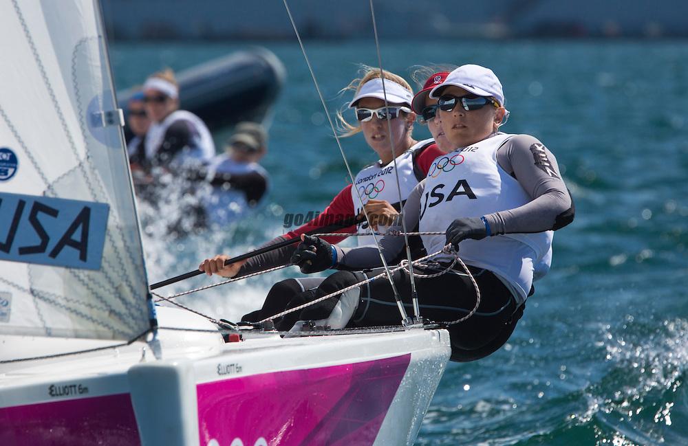 Match RaceUSATunnicliffe Anna, Capozzi Deborah, Vandemoer Molly O'Bryan<br /> <br /> 2012 Olympic Games <br /> London / Weymouth
