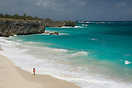 White sand and surf at Bottom Bay on the East coast of Barbados