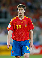 Photo: Glyn Thomas.<br />Spain v Tunisia. FIFA World Cup 2006. 19/06/2006.<br /> Spain's Xabi Alonso.