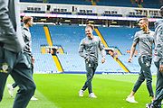Leeds United midfielder Kalvin Phillips (23) arrives at the ground during the EFL Sky Bet Championship match between Leeds United and Brentford at Elland Road, Leeds, England on 21 August 2019.