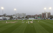 Sea mist stops play at Sussex  during the LV County Championship Div 1 match between Sussex County Cricket Club and Middlesex County Cricket Club at the BrightonandHoveJobs.com County Ground, Hove, United Kingdom on 11 May 2015.